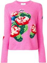 Allude floral knit jumper