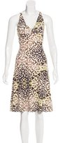 Just Cavalli Printed Cut Out Dress