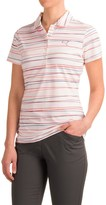 Puma Road Map Stripe Polo Shirt - UPF 40+, Short Sleeve (For Women)
