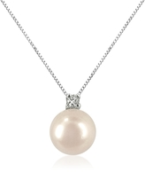 Forzieri 0.035 ct Diamond and Pearl 18k Gold Necklace