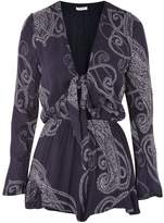 Glamorous **Paisley Tie Front Playsuit