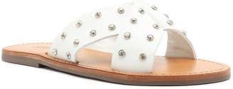 Schutz Marilu Studded X Band Slide Sandals