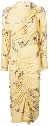Preen by Thornton Bregazzi Floral Print Ruched Dress