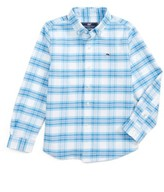 Vineyard Vines Toddler Boy's Terrace Plaid Oxford Shirt
