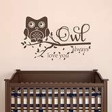 "Saniwa Wall Decal Decor Owl Always Love You Wall Decal Quote- Owl Wall Murals Nursery Wall Decal Kids Room Vinyl Wall Decal Sticker(, 21.5""h x34""w)"