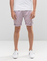 Bellfield Chino Shorts In Purple Rain