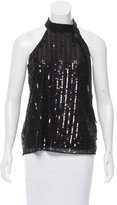 Parker Embellished Sequined Top w/ Tags
