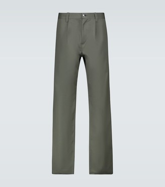 GR10K Tailored military wool-blend pants