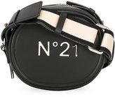 No.21 logo print crossbody bag - women - Leather/Cotton - One Size