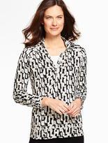 Talbots Mixed-Blocks Half-Zip Pullover