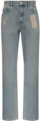 Martine Rose Pocket Print Straight-Leg Jeans