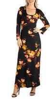 24/7 Comfort Apparel Floral T-Shirt Maxi