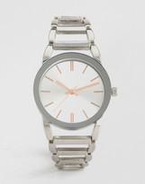 Asos Clean Metal Bracelet Strap Watch