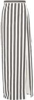 Balenciaga Striped Cotton-twill Wrap Skirt - White