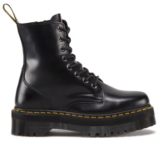 Dr. Martens Jadon Leather Lace-Up Ankle Boots with Chunky Heel