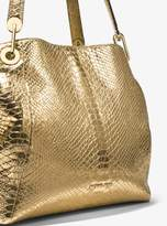 MICHAEL Michael Kors Raven Metallic Snake-Embossed-Leather Shoulder Bag