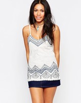 Brave Soul Embroidered Cami Tank