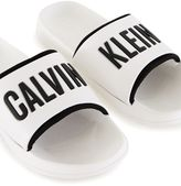 Calvin Klein White Sliders