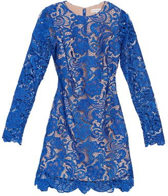 Dress the Population Clara Long Sleeve Crochet Lace Dress
