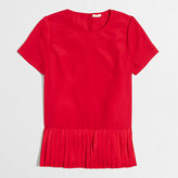 J.Crew Factory Pleated-hem T-shirt