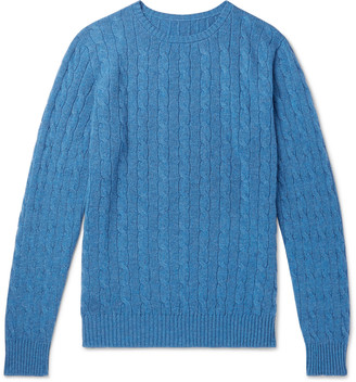 Anderson & Sheppard Cable-Knit Cashmere Sweater