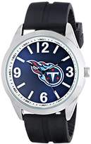 Game Time Men's NFL-VAR-TEN Varsity Analog Display Japanese Quartz Black Watch