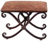 Uttermost Bench With Mahogany Undertones
