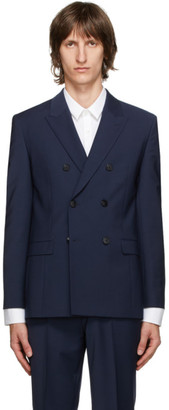 HUGO BOSS Navy Slim Fit Wool Jacket