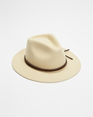 Brixton Neutrals Hats - Messer V Fedora - Size XS at The Iconic
