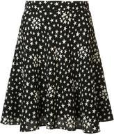 Saint Laurent star print lightly pleated skirt - women - Silk/Viscose - 38
