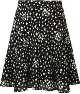 Saint Laurent star print lightly pleated skirt