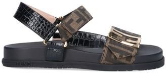 Fendi Logo Strap Sandals