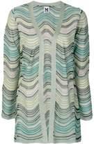 M Missoni stripe knit glitter cardigan
