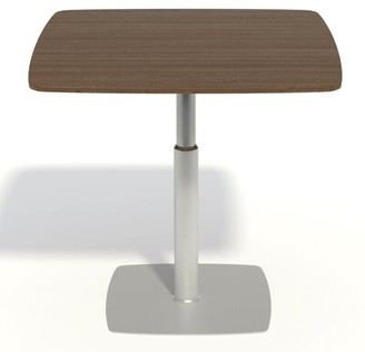 """Adjustable Table Palmieri Base Finish: White, Top Finish: Natural Maple, Size: 28"""" - 44"""" H x 30"""" W x 30"""" D"""