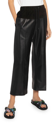 Kenzo Leather Culotte Pull-On Pants