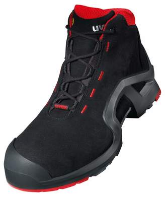 UVEX 1 X-Tended Support Work Boots - Safety Boots S3 SRC ESD - Red-Black - Size 3 5