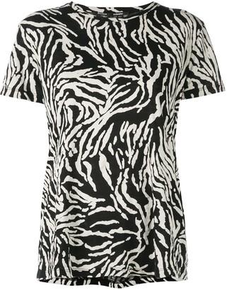 Proenza Schouler Zebra Short Sleeve T-Shirt