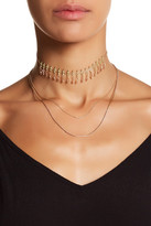 Stephan & Co Layered Bead & Chain Choker