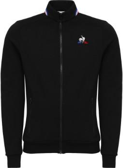 Le Coq Sportif Tricolore Full Zip Sweat Black - black | small - Black/Black