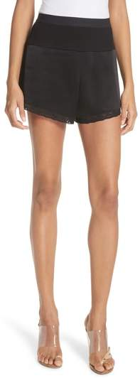 Alexander Wang Lace Trim Satin Shorts