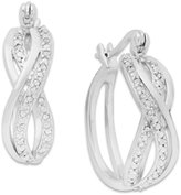 Townsend Victoria Rose-Cut Diamond Braided Hoop Earrings in 18k Gold over Sterling Silver or Sterling Silver (1/4 ct. t.w.)