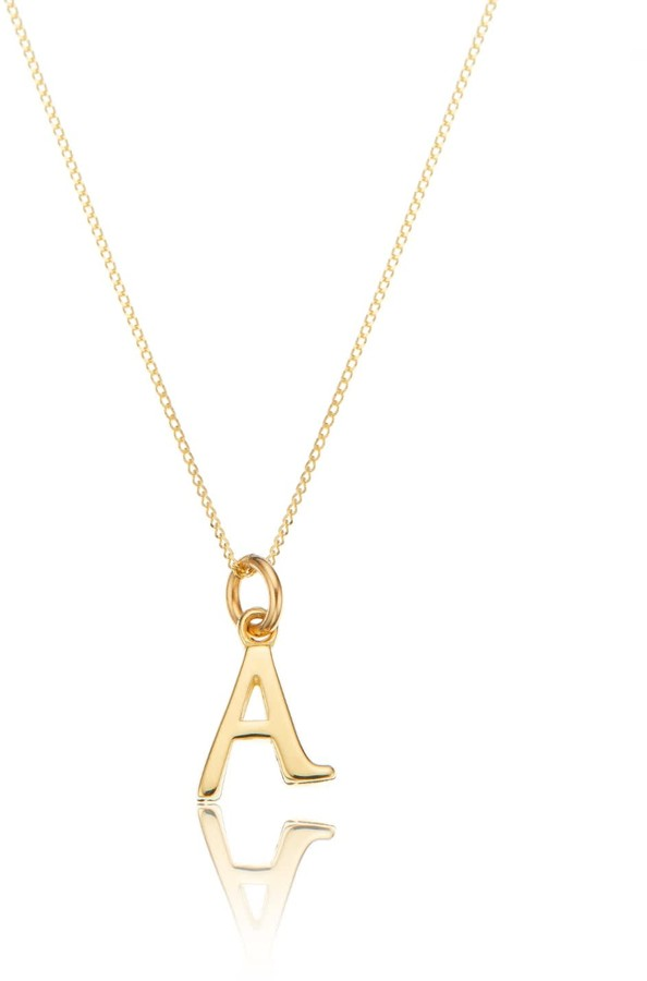 26d567002a0d7 Lily & Roo Small Solid Gold Initial Letter Necklace