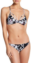 RVCA Floral Fuzz Bralette Bikini Top
