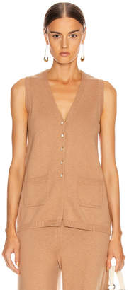 STAUD Jo Sweater Vest in Mocha | FWRD