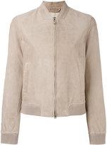 Herno zipped leather jacket
