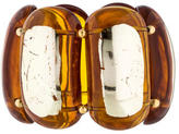 Kenneth Jay Lane Brown Resin Stretch Bracelet