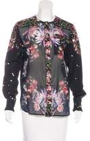 Givenchy Floral Button-Up Top