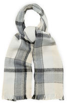"""Oasis CHECK SCARF [span class=""""variation_color_heading""""]- Black and White[/span]"""
