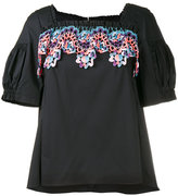 Peter Pilotto embroidered top - women - Cotton/Polyamide/Polyester/Spandex/Elastane - 6