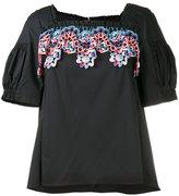 Peter Pilotto embroidered top - women - Cotton/Polyamide/Polyester/Spandex/Elastane - 6